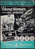 Movie Posters:Fantasy, Viking Women and the Sea Serpent / The Astounding She-Monster Combo(American International, 1957). Uncut Pressbook (12 Page...
