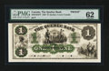 Canadian Currency: , Quebec, LC- The Quebec Bank $1 Jan. 2, 1863 Ch. # 620-34-02FP FaceProof . ...