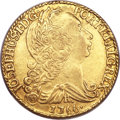 British West Indies, British West Indies: Imitation Brazil gold 6400 Reis 1766R,...