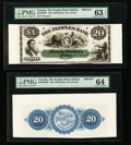 Canadian Currency: , Halifax, NS- The Peoples Bank $20 May 25, 1864 Ch. # 580-10-02FP/BPFace and Back Proofs . ... (Total: 2 notes)
