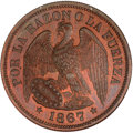Chile, Chile: Republic copper Pattern 50 Centavos 1867,...