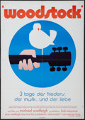 "Movie Posters:Rock and Roll, Woodstock (Warner Brothers, 1970). German A1 (23.25"" X 33""). Rockand Roll.. ..."