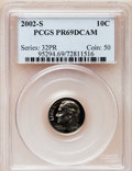 Proof Roosevelt Dimes, 2002-S 10C Clad PR69 Deep Cameo PCGS. PCGS Population (2228/150).Numismedia Wsl. Price for problem fre...