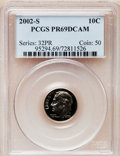Proof Roosevelt Dimes, 2002-S 10C Clad PR69 Deep Cameo PCGS. PCGS Population (2198/145).Numismedia Wsl. Price for problem fre...