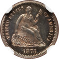 Proof Seated Half Dimes: , 1873 H10C PR64 NGC. NGC Census: (60/68). PCGS Population (75/50).Mintage: 600. Numismedia Wsl. Price for problem free NGC/...