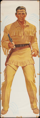"""The Lone Ranger Wheaties Poster - Tonto Style (General Mills, 1957). Poster (25"""" X 75""""). Western"""
