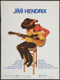 "Movie Posters:Rock and Roll, Jimi Hendrix (Warner Brothers, 1974). French Affiche (23.5"" X31.5""). Rock and Roll.. ..."