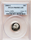 Proof Roosevelt Dimes, 2005-S 10C Clad PR69 Deep Cameo PCGS. PCGS Population (3655/263).NGC Census: (4477/1537). Numismedia Wsl. Price for probl...