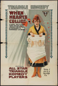 "Movie Posters:Comedy, When Hearts Collide (Triangle, 1917). One Sheet (27.5"" X 41"").Comedy.. ..."