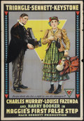 "Movie Posters:Comedy, Maggie's First False Step (Triangle, 1917). One Sheet (28"" X 41"").Comedy.. ..."