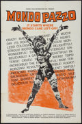 "Movie Posters:Documentary, Mondo Pazzo (Rizzoli, 1965). One Sheet (27"" X 41""). Documentary.. ..."