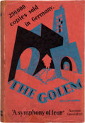 Books:First Editions, Gustav Meyrink. The Golem. Boston and New York: HoughtonMifflin, 1928. First American edition. Octavo. 288 pages. P...
