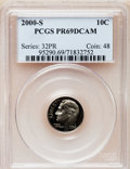 Proof Roosevelt Dimes: , 2000-S 10C Clad PR69 Deep Cameo PCGS. PCGS Population (2189/140).Numismedia Wsl. Price for problem fre...