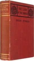 Books:First Editions, Bram Stoker. The Lady of the Shroud. London: WilliamHeinemann, 1909. First edition. Octavo. 333 pages. Publisher's ...