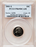 Proof Roosevelt Dimes, 2001-S 10C Clad PR69 Deep Cameo PCGS. PCGS Population (2518/261).Numismedia Wsl. Price for problem fre...