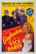 Memorabilia:Poster, Confessions of a Vice Baron Poster (American TradingAssociation, 1943).... (Total: 2 Items)