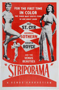 Memorabilia:Poster, Striporama Movie Poster (1953)....