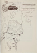 Original Comic Art:Sketches, Joe Kubert Abraham Stone Book One: Country Mouse, City Rat Special San Diego Con Edition with Hawkman Sketch Origi...