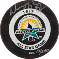 """Hockey Collectibles:Others, Wayne Gretzky Signed """"Upper Deck Authenticated"""" Puck...."""
