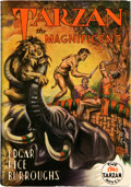 Books:Science Fiction & Fantasy, Edgar Rice Burroughs. Tarzan the Magnificent. Tarzana: EdgarRice Burroughs, Inc., [1939]. First edition. Octavo...