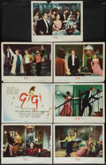 """Movie Posters:Musical, Gigi (MGM, 1958). Title Lobby Card and Lobby Cards (6) (11"""" X 14""""). Musical.. ... (Total: 7 Items)"""