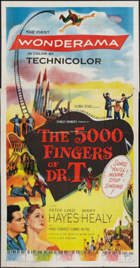 """The 5000 Fingers of Dr. T (Columbia, 1953). Three Sheet (41"""" X 81""""). Fantasy"""