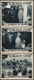 "Movie Posters:Serial, The Black Coin (Stage and Screen Productions, 1936). Lobby Cards (3) (11"" X 14"") Chapter 11 -- ""Wheels of Death."" Serial.. ... (Total: 3 Items)"
