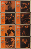 "Movie Posters:Elvis Presley, King Creole (Paramount, 1958). Lobby Card Set of 8 (11"" X 14"").Elvis Presley.. ... (Total: 8 Items)"