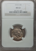 Buffalo Nickels: , 1915-S 5C MS62 NGC. NGC Census: (44/326). PCGS Population (45/509).Mintage: 1,505,000. Numismedia Wsl. Price for problem f...
