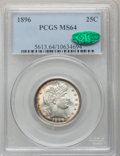 Barber Quarters: , 1896 25C MS64 PCGS. CAC. PCGS Population (45/46). NGC Census:(42/29). Mintage: 3,874,762. Numismedia Wsl. Price for proble...