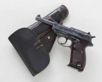 *Rare WWII Navy Marked P38 Semi-Automatic Pistol, by Spreewerke (cyq), with Holster