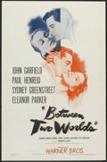 "Movie Posters:Mystery, Between Two Worlds (Warner Brothers, 1944). One Sheet (27"" X 41""). Mystery.. ..."