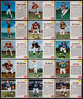 Football Cards:Sets, 1962 Post Cereal Football Partial Set (81/200). ...