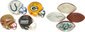Football Collectibles:Others, Football Greats Signed Memorabilia Lot of 8 - With 1972 Miami Dolphins Team Signed Football!...