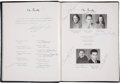 Football Collectibles:Publications, 1943 Vince Lombardi Signed St. Cecilia High School Yearbook. ...