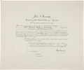 Autographs:U.S. Presidents, John F. Kennedy Political Appointment Signed...