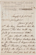 "Autographs:Celebrities, Susan B. Anthony Autograph Letter Signed ""Susan B.Anthony""...."