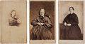 Photography:CDVs, Three Cartes de Visite Featuring Prominent American Feminists Lucy Stone, Mary Edwards Walker, and Martha Coffin W... (Total: 3 Items)