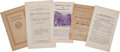 Miscellaneous:Ephemera, Archive of Five Connecticut Suffrage Pamphlets, Circa 1870-1913....(Total: 5 Items)