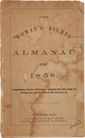 Books:Pamphlets & Tracts, The Woman's Rights Almanac for 1858, Containing Facts,Statistics, Arguments, Records of Progress, and Proofs of the Needof...