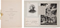 Autographs:Celebrities, Susan B. Anthony Eighty-Sixth Birthday Luncheon Program and ClippedSignature.... (Total: 2 Items)