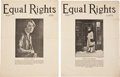 Miscellaneous:Ephemera, Four Issues of the American Feminist Magazine Equal Rightsthe Official Organ of the National Woman's Party, Circa... (Total:4 Items)