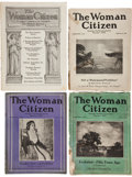 Miscellaneous:Ephemera, Eleven Issues of The Woman Citizen Magazine, Circa1920-1930.... (Total: 11 Items)