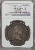 Early Dollars, 1795 $1 Flowing Hair, Two Leaves--Plugged--NGC Details. Fine.BB-21, B-1. PCGS Population (51/391). Nu...