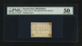 Colonial Notes:Pennsylvania, Pennsylvania- Bank of North America, Philadelphia August 6, 1789 3dPMG About Uncirculated 50.. ...