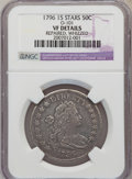 Early Half Dollars, 1796 50C 15 Stars, O-101, R.5--Repaired, Whizzed--NGC Details. VF.PCGS Population (0/2). (#39261)...