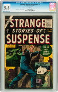 Golden Age (1938-1955):Science Fiction, Strange Stories of Suspense #7 (Atlas, 1956) CGC FN- 5.5 White pages....