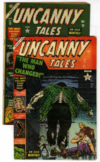 Uncanny Tales #11 and 13 Group Golden (Atlas, 1953) Condition: Average VG+.... (Total: 2)