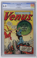 "Golden Age (1938-1955):Horror, Venus #14 Davis Crippen (""D"" Copy) pedigree (Atlas, 1951) CGC FN6.0 Off-white pages...."