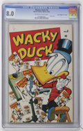 "Golden Age (1938-1955):Funny Animal, Wacky Duck #4 Davis Crippen (""D"" Copy) pedigree (Marvel, 1946) CGCVF 8.0 Off-white to white pages...."